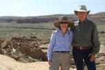 Dr. Ruth Van Dyke and Jim Shaffner, Pueblo Bonito is in the background.