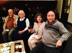Bob Schauer, Sandi Schauer, Julie Taylor and a mystery guest