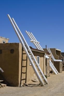 Ladders to Ceremonial Kivas in Acoma Pueblo