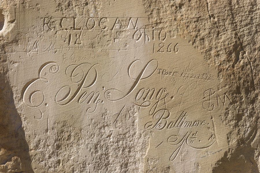 inscription of Logan, Post  and Long, Inscription Rock, El Morro